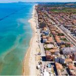 panoramica della spiaggia e del mare di Marotta